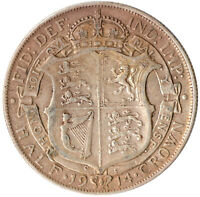 1914 HALF CROWN KING GEORGE V. GREAT BRITAIN HALFCROWN #WT3228