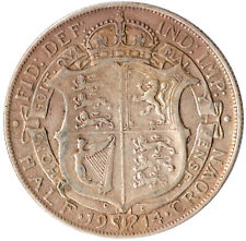 1914 HALF CROWN KING GEORGE V. GREAT BRITAIN HALFCROWN #WT3228