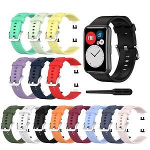 Armband für HUAWEI WATCH FIT Silikon Band Strap viele Farben Uhrenarmband