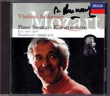 Vladimir Ashkenazy SIGNED Mozart PIANO SONATA k.311 457 570 fantaise 475 540 CD