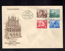 1953 Berlin East Germany DDR First Day Cover FDC Frankfurt Oder Anniversary