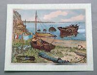 Vintage 1970's Lionel Barrymore Rocky Point Color Foil Etch Print 1