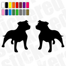 2 X Staffordshire Bull Terrier / Staffy coche / ventana Stickers / Calcomanías