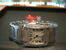 CARTIER TANK FRANCAISE STEEL LADIES WATCH 0.60 DIAMOND