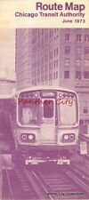 Vintage Route Map Chicago Illinois Transit Authority Bus Train Railroad Service