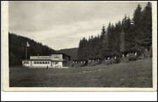 Ledče nad Sáz Tschechien Postkarte ~1950/60 středisko MSVU Zentrum Wald