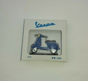 VESPA PX125 Scooter 1978 Diecast Tin Handpainted Model Blue New In Box