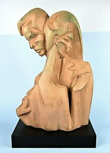 AUSTIN PROD MODERNIST NEW WAVE SCULPTURE BY DANEL MAN & WOMAN LOVERS EMBRACING