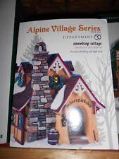 Dept 56 Alpine Village Snowdrop Cottage Nib