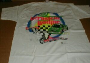 Kenny Bernstein Drag Racing NHRA 1990 VTG rare XL shirt NEW unused Quaker State