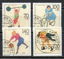 Allemagne - série SPORTS - numéros 1331 / 1334 - émise en 1991 .