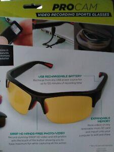 Sunglasses PROCAM Hands Free 1080P HD Sport/Nature Recording Glasses.