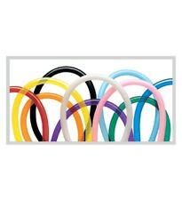Qualatex Latex 160Q Traditional Assortment 100 Count Twisting Modeling Balloons