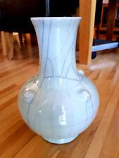 Chinese Oriental Jade Colour Cracked Style/Design Porcelain Vase