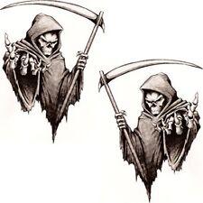 Grim reaper Vinyl sticker/decal small pair 50mm