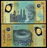 MALAYSIA 50 RINGGIT 1998 POLYMER P 45 COMM. AUNC ABOUT UNC
