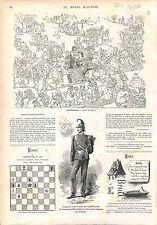Allegorie Etrennes / Garde Noble Guard Guardia nobile Vatican OLD PRINT 1874