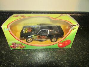 05 Motor Max Fresh Cherries 1/24 Die Cast Car 1974 Chevy Vega Black Red Flames