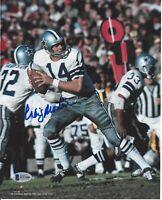 Craig Morton Autographed Dallas Cowboys 8x10 Photo Beckett