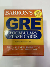 Barron's GRE Vocabulary Flash Cards by Weiner Green M.A. Sharon Education Tutor