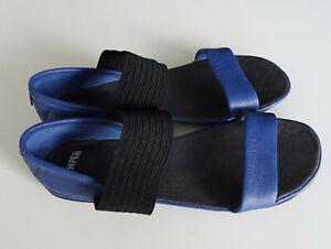 Neue Riemchen-Leder-Sandalen von Camper 37 Leder (110 €) schwarz-blau
