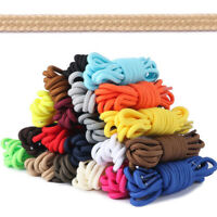Casual Shoelaces Round Shoe Laces Unisex Working Bootlace Woven Shoestrings