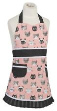 Now Designs Cats Meow Sally Kids Apron 100% Cotton Kitchen Little Helper Childs