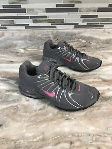 NIKE AIR MAX Womens Sz 8.5 Gray Pink Athletic Running Sneaker Shoes 317004-060