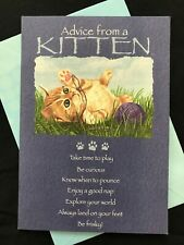All Occasion Advice From A Kitten - Leanin Tree Card NEW Your True Nature Shamir
