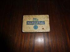 alte Blechdose / Zigarettendose Pteo Marquesas Jasmatzi Dresden 11x7,5x2cm