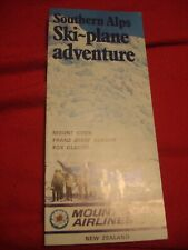 Southern Alps Ski Plane Adventure Brochure Mount Cook Airlines New Zealand