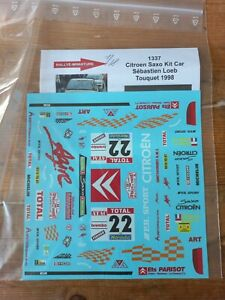 DECALS 1/18 REF 1337 Citroen Saxo kit car Loeb Touquet 1998