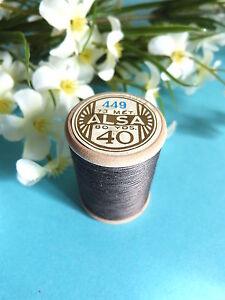 249B / Beautiful Coil Old Of DMC Thread Cotton Alsa N° 40 Grey Taupe N° 449