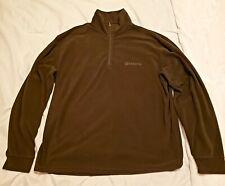 Beretta Mens Size 3XL Hunter Green Fleece quater zip Pullover Jacket