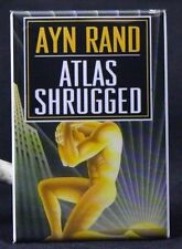 "Atlas Shrugged Book Cover 2"" X 3"" Fridge / Locker Magnet. Ayn Rand"