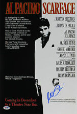 Al Pacino Scarface Signed 12x18 Poster Graded Gem Mint 10! PSA/DNA Itp #6A31146
