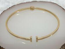 Genuine 18k Solid Gold Bangle 18 cm