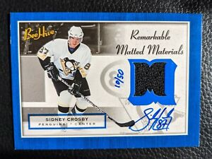 2005 06 UD BEE HIVE SIDNEY CROSBY AUTOGRAPH AUTO JERSEY ROOKIE CARD RC #10/50