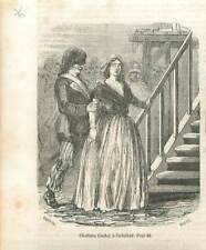 Charlotte Corday à l'échafaud Guillotine Paris Révolution Française GRAVURE 1851