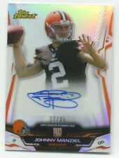 JOHNNY MANZIEL RC 2014 Topps Finest REFRACTOR AUTOGRAPH Rookie AUTO Browns