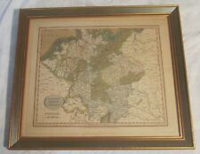1809 Framed Map of GERMANY -- Hand Colored -- J. CARY, London, 1809