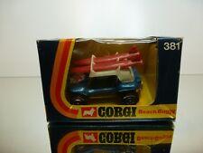 CORGI TOYS 381 G.P. BEACH BUGGY + ROOF RACK SURF BOARDS 1:43 - VERY GOOD IN BOX