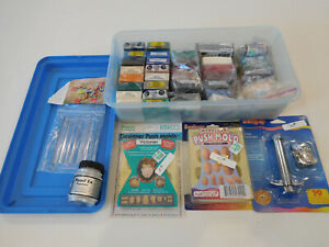 Huge Lot 42 Sculpey Premo Fimo Polymer 5-lbs Colors Clay Push Mold Extruder Tool