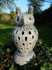 Owl Lantern Tealight Holder  - Terracotta Owl