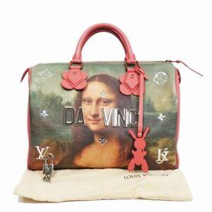 LOUIS VUITTON Masters Speedy 30 Hand Bag DA VINCI MONA LISA Jeff Koons Monogram