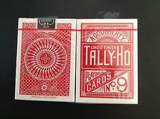 Carte à jouer   Tally-Ho    Circle Back    n°9    rouge