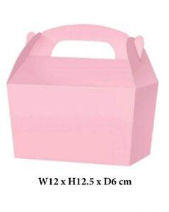 10 Baby Pink Treat Boxes Cupcake Party Loot Bag Wedding Children Birthday SB155