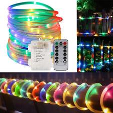 12m 39ft RGB 120 LED Solar Power Rope Tube String Fairy Light Garden Yard Party