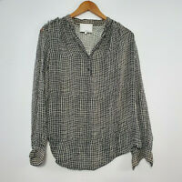 3.1 PHILLIP LIM Women's Silk Blouse Top Long Sleeve Sheer Asymmetrical Size 2