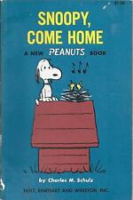 Snoopy Come Home. Peanuts. Excellent Condition. 1968 Softcover.Charles M. Schulz